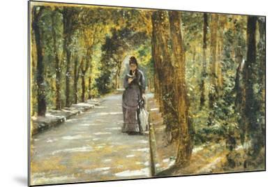 In Portici Forest-Giuseppe De Nittis-Mounted Giclee Print