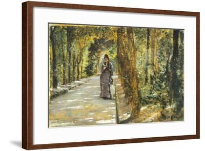 In Portici Forest-Giuseppe De Nittis-Framed Giclee Print