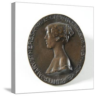 Medallion Portrait of Mary Theresa Odell, 1913-Isaac Cooke-Stretched Canvas Print
