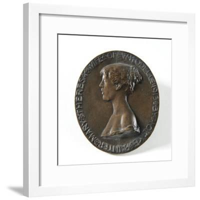 Medallion Portrait of Mary Theresa Odell, 1913-Isaac Cooke-Framed Giclee Print