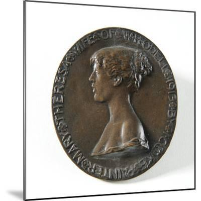 Medallion Portrait of Mary Theresa Odell, 1913-Isaac Cooke-Mounted Giclee Print
