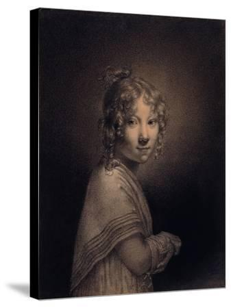 Portrait of a Girl, Half-Length-Louis Leopold Boilly-Stretched Canvas Print