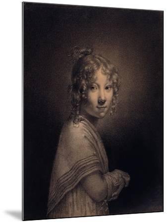 Portrait of a Girl, Half-Length-Louis Leopold Boilly-Mounted Giclee Print