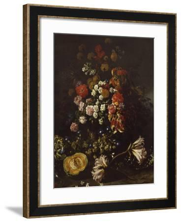 Flowers with Crystal Bowl-Paolo Porpora-Framed Giclee Print