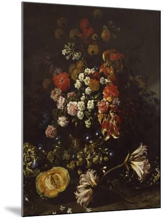 Flowers with Crystal Bowl-Paolo Porpora-Mounted Giclee Print