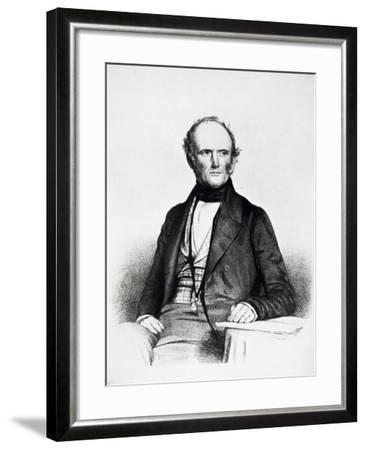 Portrait of Charles Lyell--Framed Giclee Print