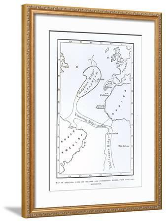 Map Showing the Position of Atlantis--Framed Giclee Print