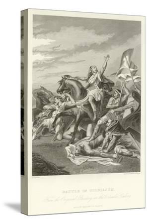 Battle of Tolbiacum-Alphonse Marie de Neuville-Stretched Canvas Print