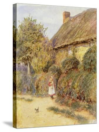 Straying-Helen Allingham-Stretched Canvas Print
