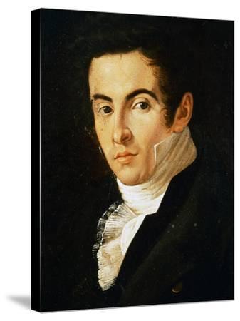 Portrait of Vincenzo Bellini--Stretched Canvas Print