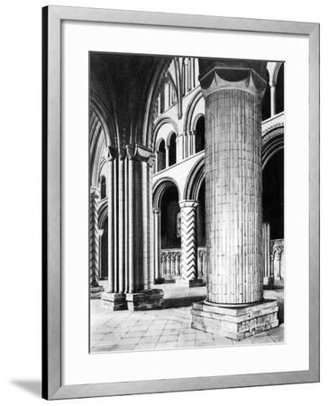 The Nave of Durham Cathedral, 19th Century--Framed Giclee Print