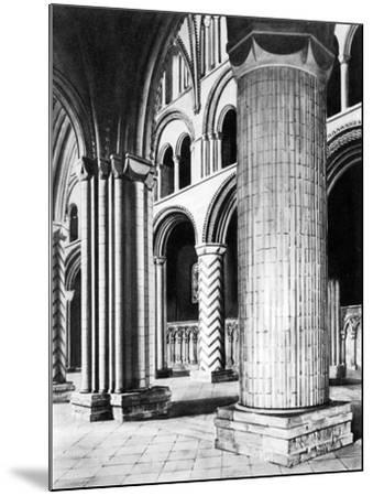 The Nave of Durham Cathedral, 19th Century--Mounted Giclee Print