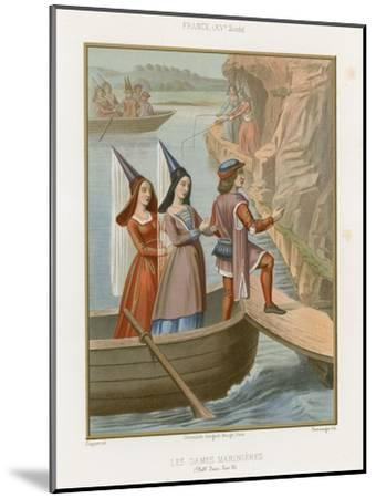 Lady Sailors--Mounted Giclee Print