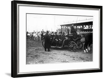 Horse-Drawn Car in St. Petersburg, C.1902--Framed Photographic Print