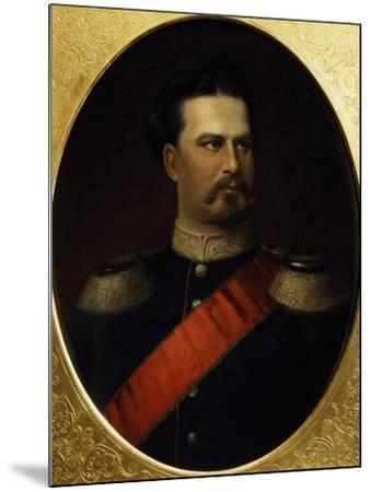 Portrait of Ludwig II--Mounted Giclee Print