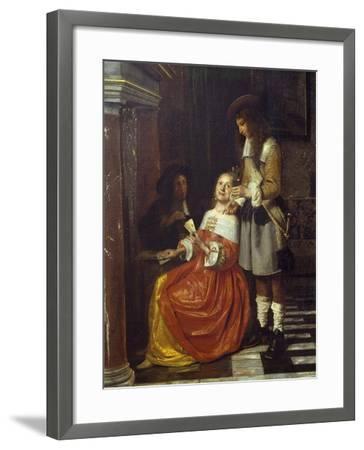 Card Players-Pieter de Hooch-Framed Giclee Print