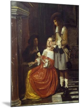 Card Players-Pieter de Hooch-Mounted Giclee Print