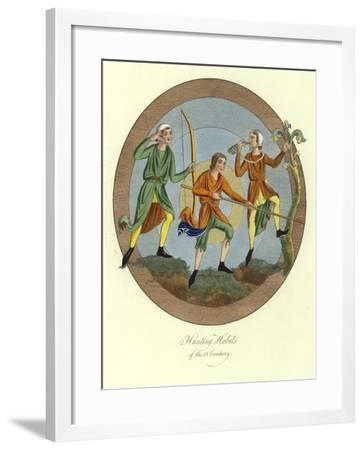 Hunting Habits of the 13th Century--Framed Giclee Print