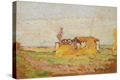 Pump Machine, 1910-1920-Guglielmo Micheli-Stretched Canvas Print