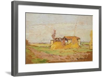 Pump Machine, 1910-1920-Guglielmo Micheli-Framed Giclee Print