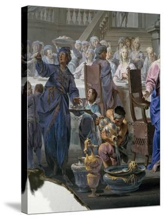 Marriage at Cana-Vittorio Maria Bigari-Stretched Canvas Print