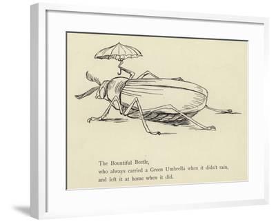 The Bountiful Beetle-Edward Lear-Framed Giclee Print