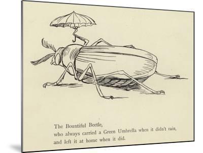 The Bountiful Beetle-Edward Lear-Mounted Giclee Print