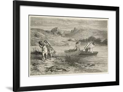 Pecheurs a L'Epoque De La Pierre Polie-Emile Antoine Bayard-Framed Giclee Print