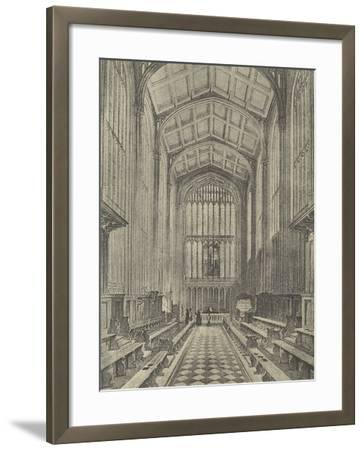The Chapel, Looking East, 1844--Framed Giclee Print