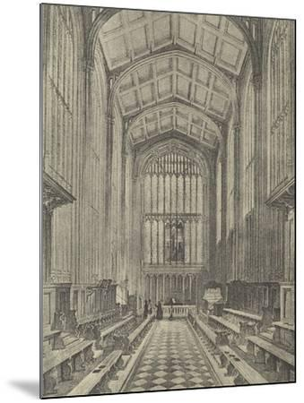 The Chapel, Looking East, 1844--Mounted Giclee Print
