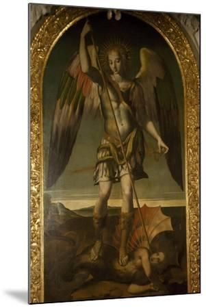 Saint Michael Triumphs over Devil--Mounted Giclee Print