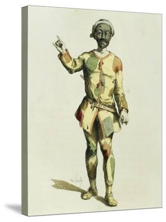 Harlequin in 1570-Maurice Sand-Stretched Canvas Print