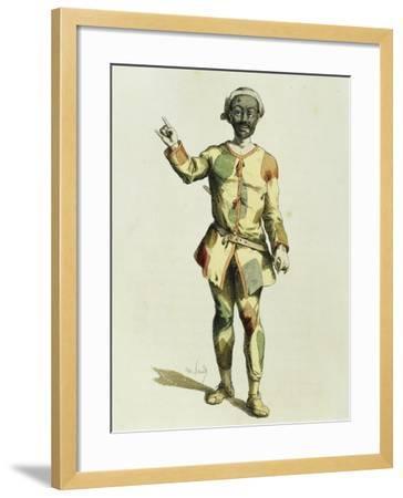 Harlequin in 1570-Maurice Sand-Framed Giclee Print