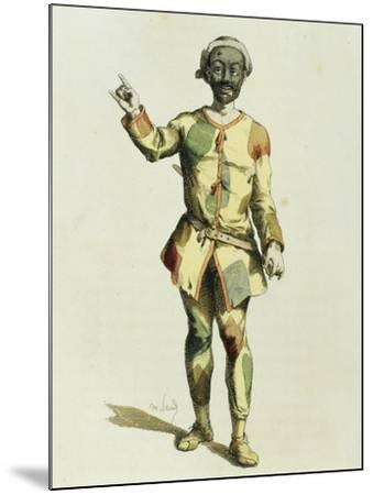 Harlequin in 1570-Maurice Sand-Mounted Giclee Print