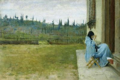 Lady at Work-Silvestro Lega-Framed Giclee Print