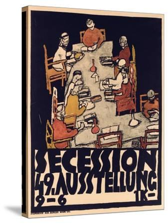 Poster Advertising Secession 49 Exhibition, 1918-Egon Schiele-Stretched Canvas Print