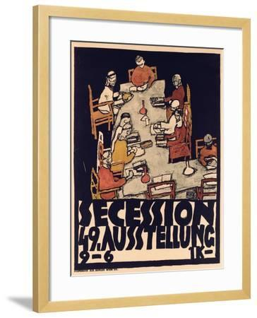 Poster Advertising Secession 49 Exhibition, 1918-Egon Schiele-Framed Giclee Print