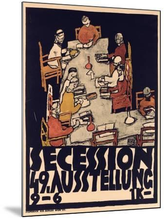 Poster Advertising Secession 49 Exhibition, 1918-Egon Schiele-Mounted Giclee Print