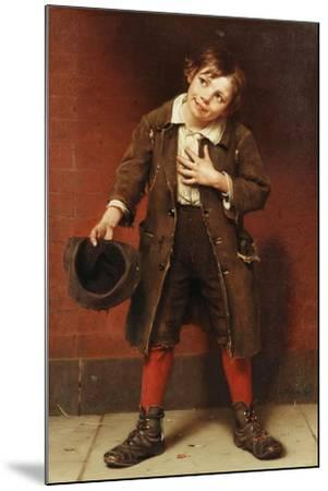 Beggar Boy, C.1885-1887-John George Brown-Mounted Giclee Print