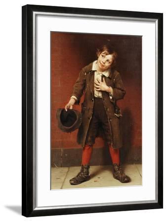 Beggar Boy, C.1885-1887-John George Brown-Framed Giclee Print
