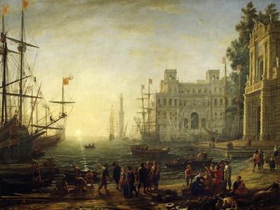 Seaport with Villa Medici-Claude Lorraine-Framed Giclee Print