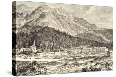 Switzerland, St Moritz Bad in Graubunden--Stretched Canvas Print