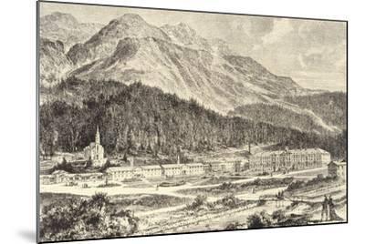 Switzerland, St Moritz Bad in Graubunden--Mounted Giclee Print