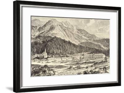 Switzerland, St Moritz Bad in Graubunden--Framed Giclee Print