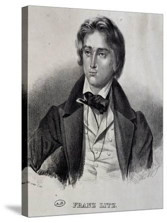 Portrait of Franz Liszt--Stretched Canvas Print