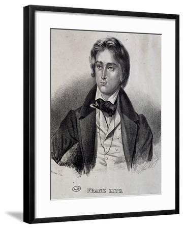 Portrait of Franz Liszt--Framed Giclee Print