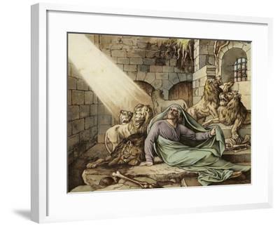 Daniel in the Lion's Den--Framed Giclee Print