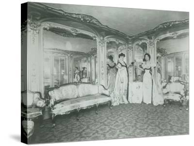 A Brothel in Paris, the Lords Lounge, C. 1900--Stretched Canvas Print