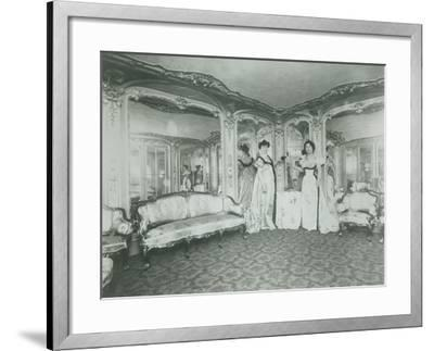 A Brothel in Paris, the Lords Lounge, C. 1900--Framed Photographic Print