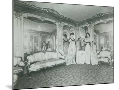 A Brothel in Paris, the Lords Lounge, C. 1900--Mounted Photographic Print